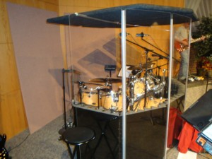 Drums in Plexiglass w/ top